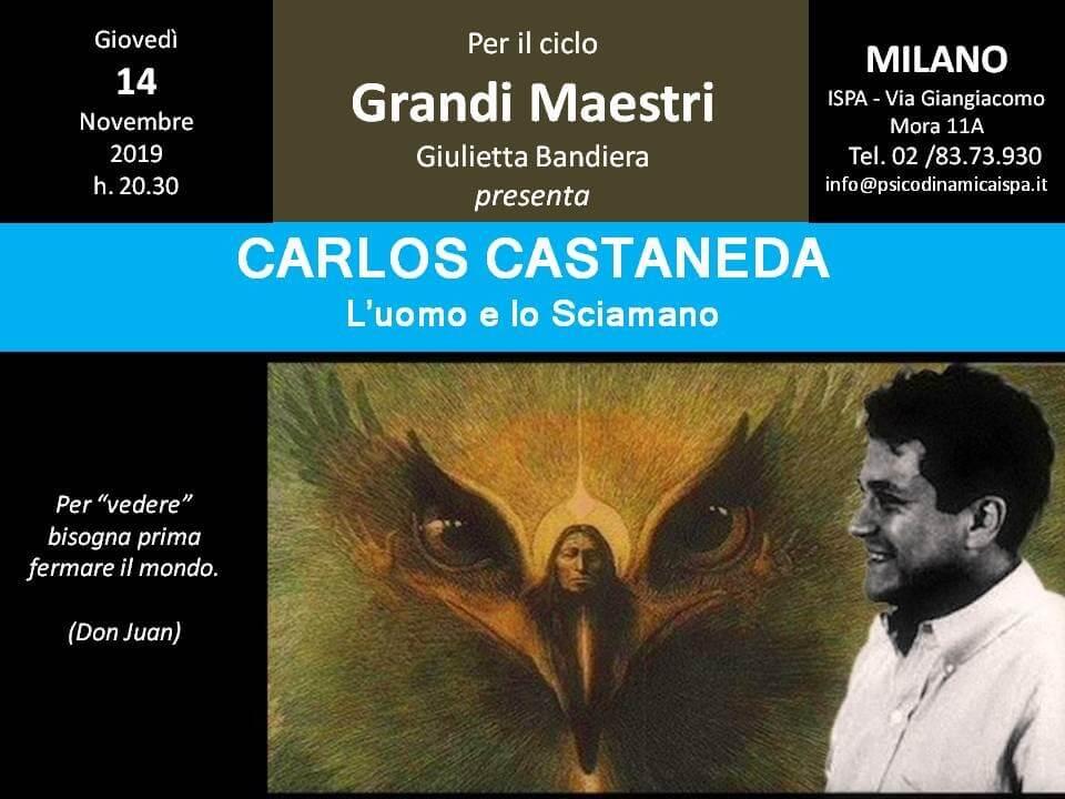 I Grandi Maestri: Carlos Castaneda – Conferenza con G. Bandiera
